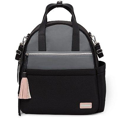 Bolsa Maternidade Skip Hop - Coleção Nolita Neoprene - Backpack (Mochila) - Cor Black Grey