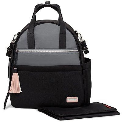 Bolsa Maternidade SKIPHOP (Diaper Bag) Nolita Neoprene - Backpack (Mochila) Black Grey **** LANCAMENTO MUNDIAL****