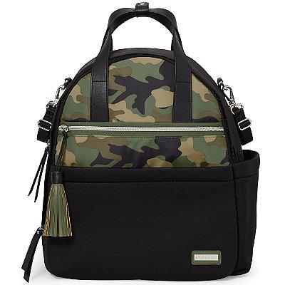 Bolsa Maternidade Skip Hop - Coleção Nolita Neoprene - Backpack (Mochila) - Cor Black/ Camo Skip Hop