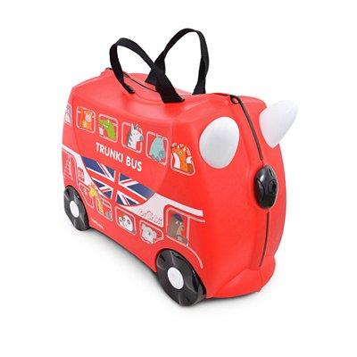 Mala Infantil Trunki - Boris: O Ônibus - Sua viagem muito mais divertida - cor Vermelho