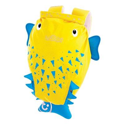 Mochila Infantil Trunki - Modelo PaddlePak - Peixe Espinho Spike - cor Amarelo