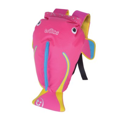 Mochila Infantil Trunki - Modelo PaddlePak - Peixe Rosa Coral - cor Rosa