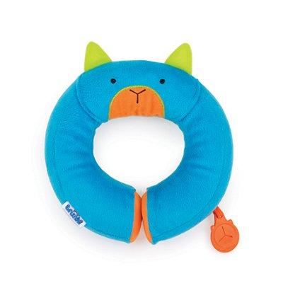 Almofada Yondi Trunki - Modelo Gato Bert - Almofada de Pescoço Divertida - Cor Azul