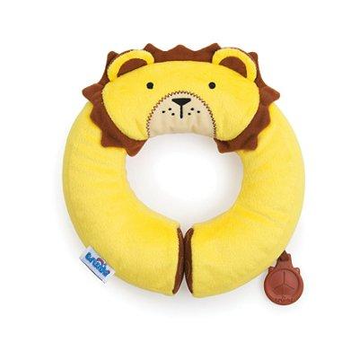 Almofada Yondi Trunki - Modelo Leão Leeroy - Almofada de Pescoço Divertida - Cor Amarela