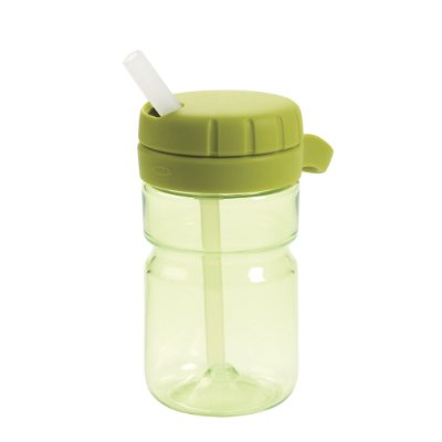 Garrafinha com Canudo, tampa giratória 354 ml Oxotot - Verde