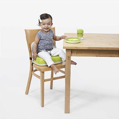 Assento Infantil para Elevação com encosto e cinto OXOtot Branco e Verde