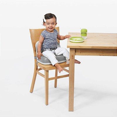 Assento Infantil para Elevação com encosto e cinto OXOtot Branco e Cinza