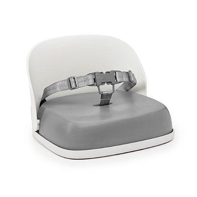 Assento Infantil OXOTot - Elevação com encosto e cinto - Cor Branco e Cinza