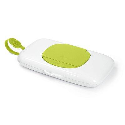 Porta Lenços Umedecidos Wipes Dispenser OXOtot Branco e Verde