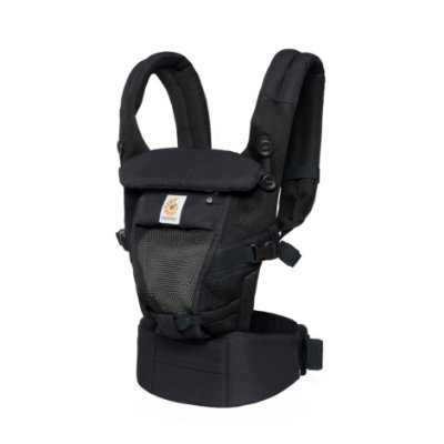 Canguru Ergobaby - Modelo Adapt  - Use desde o nascimento - Tecnologia Cool Air Mesh - Onyx Black