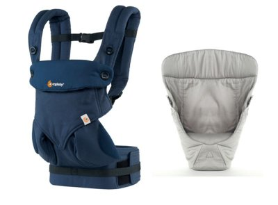 Canguru - BabyCarrier Ergobaby - Coleção 360 - Midnight Blue + Infant Insert Grey