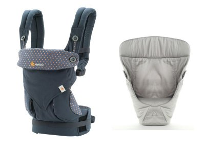 Canguru - BabyCarrier Ergobaby - Coleção 360 - Dusty Blue + Infant Insert Grey