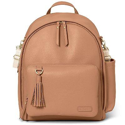Bolsa Maternidade Skip Hop - Coleção Greenwich Simply Chic Backpack ( mochila) Caramel