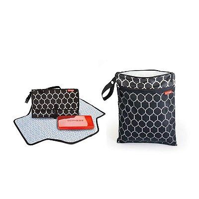 Combo Especial de aniversário - Wet/Dry Bag + Trocador -  Onyx Tile