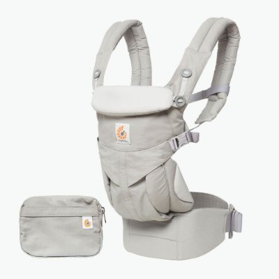 Canguru Ergobaby - OMNI 360 - ALL-IN-ONE Baby Carrier - Cor : Pearl Grey ( Cinza) ***Lançamento Mundial***
