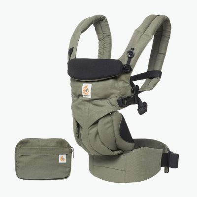 Canguru Ergobaby - Modelo Omni 360 - All-in-One - Cor Khaki Green