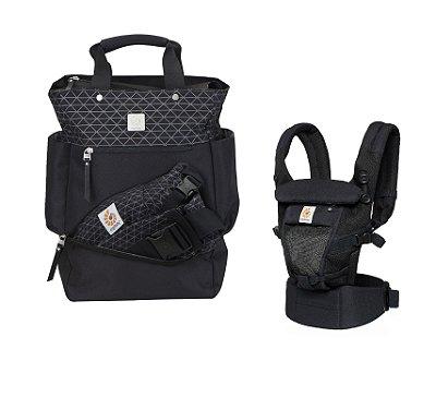 COMBO ERGOBABY: Bolsa Maternidade The Carry On Geo/Black + Canguru Adapt Onyx Black