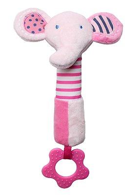 Brinquedo de Pelúcia Multisensorial Elefante Rosa - Storki