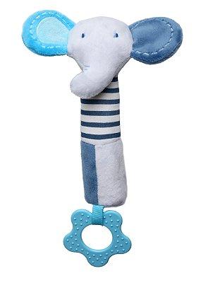 Brinquedo de Pelúcia Multisensorial Elefante Azul - Storki
