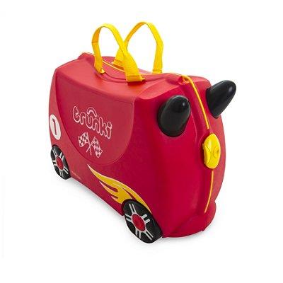 Mala Infantil Trunki - Carro de Corrida - Sua viagem muito mais divertida - cor Vermelho