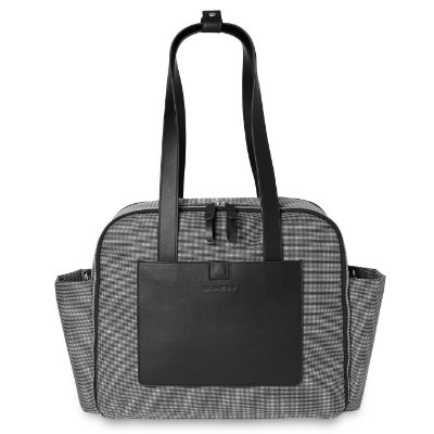 Bolsa Maternidade(Diaper Bag) Madison Square Skip Hop - Black/ White Mini Grid