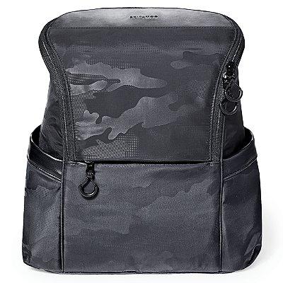 Bolsa Maternidade Skip Hop Paxwell Easy-Access Backpack Camo Tonal Preto