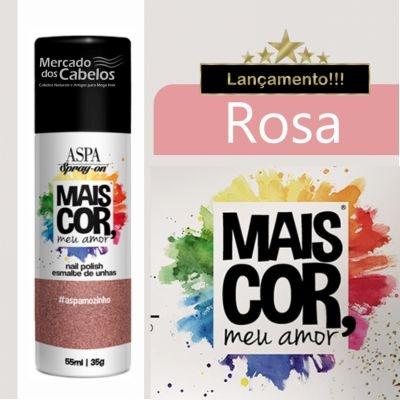 Esmalte de Unhas em Spray - Mais Cor, meu Amor - Aspa - 55ml - Rosa