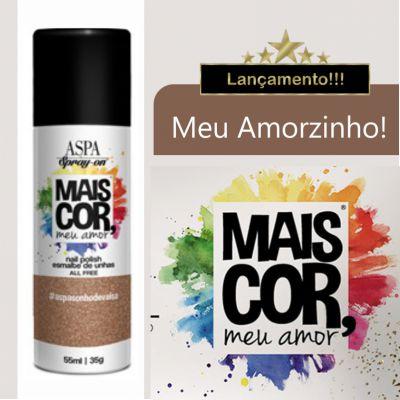 Esmalte de Unhas em Spray - Mais Cor, meu Amor - Aspa - 55ml - Cor: Meu Amorzinho