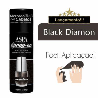 Esmalte de Unhas em Spray On - Aspa - 55ml - Cor: Black Diamon