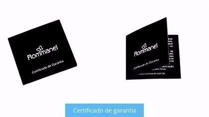 PULSEIRA ROMMANEL COURO SINTÉTICO COM PEÇA OVAL VAZADA 551389