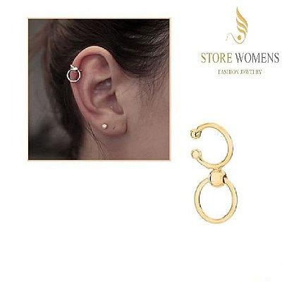 BRINCOS ROMMANEL EAR CUFF DETALHES ESFERAS 525520