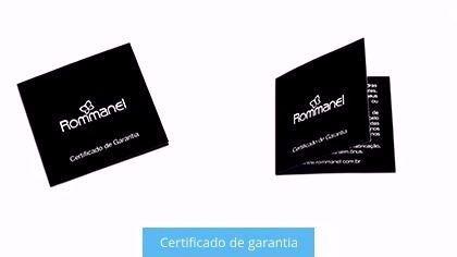 ALIANÇAS ROMMANEL COM ARO ONDULADO COM ZIRCÔNIA 512365
