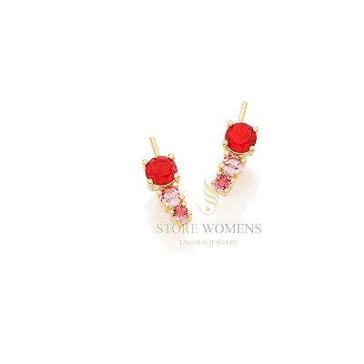 BRINCO ROMMANEL EAR CUFF CRITAIS COLORIDOS E ZIRCONIA 526222 121725