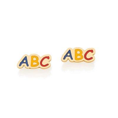 BRINCOS ROMMANEL INFANTIL ABC COM APLICAÇÃO DE RESINA 526417