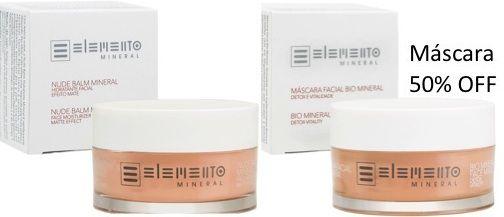 Promo Nude Balm e Máscara Bio Mineral com desconto