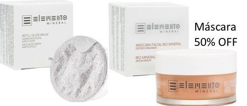 Promo Refil Nude Balm e Máscara Bio Mineral com desconto