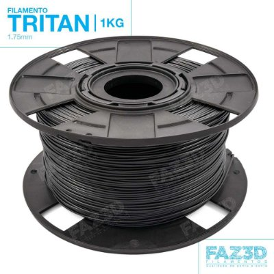 Filamento Tritan 1.75mm Preto - 1Kg