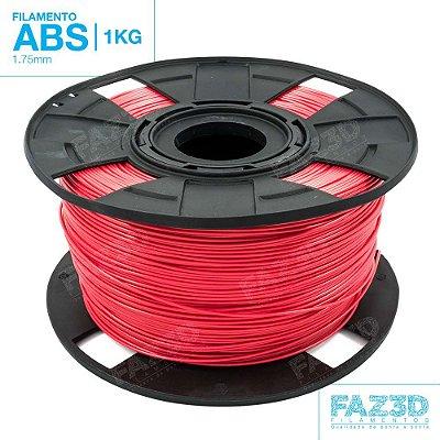 Filamento ABS 1.75mm Vermelho - 1Kg