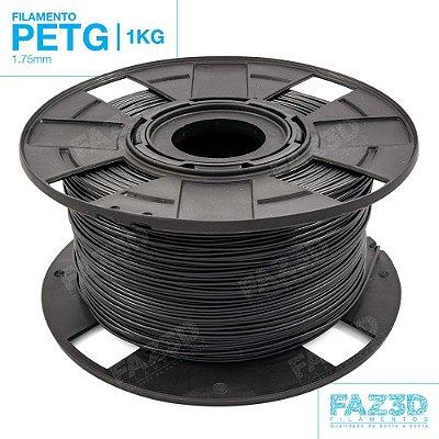 Filamento PETG 1.75mm Preto - 1Kg
