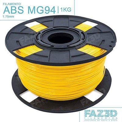 Filamento ABS MG94 (Premium) 1.75mm Amarelo - 1Kg