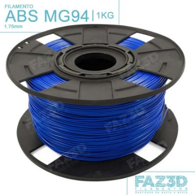 Filamento ABS MG94 (Premium) 1.75mm Azul - 1Kg