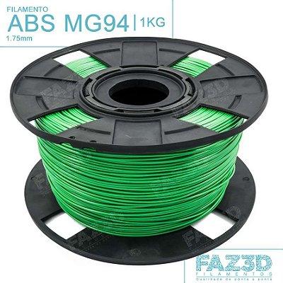 Filamento ABS MG94 (Premium) 1.75mm Verde - 1Kg