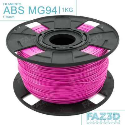 Filamento ABS MG94 (Premium) 1.75mm Rosa - 1Kg