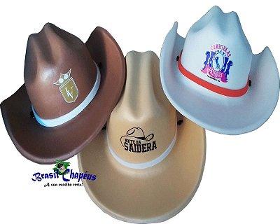 Chapéu Cowboy de Eva-Personalizado-brindes-Adulto e Infantil-Fabricação Própria