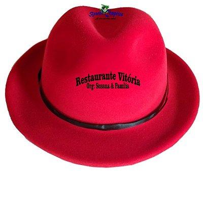 Chapéu Malandro de E.v.a Aveludado Personalizado-Fabricação-própria