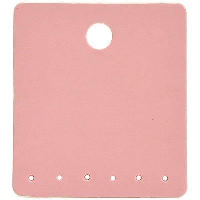 Cartela Para Brincos 6 Furos embaixo 3 Pares de Brincos - 3,9 x 4,4 - C62 Rosa