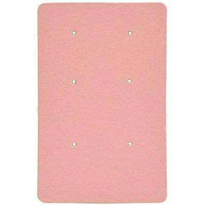 Cartela Para Brincos 6 Furos 3 Pares de Brincos - 4,6 x 7 cm - C168 Rosa