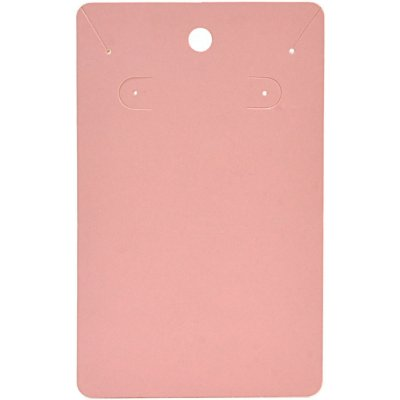 Cartela Para Brinco e Corrente - Conjunto - 7,5 X 12 cm - C34 Rosa