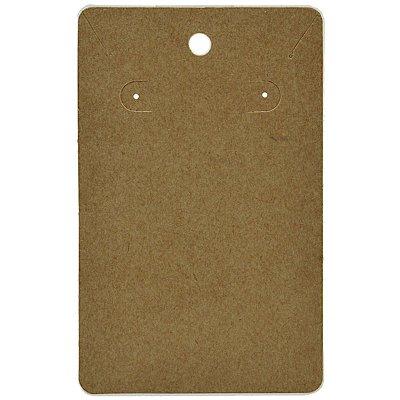 Cartela Para Brinco e Corrente - Conjunto - 7,5 X 12 cm - C34 Kraft