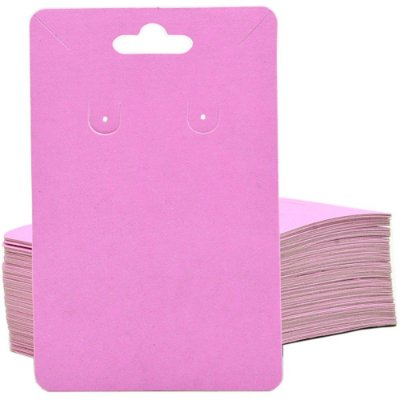 Cartela Para Brinco e Corrente  - 6,5 X 10 cm - C40B Rosa Fosca